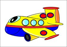 Lustiges Flugzeug für Kinder Stockfotografie
