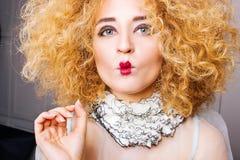 Lustiges Frauenporträt Lizenzfreie Stockfotos