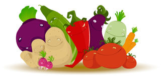 Lustiges Gemüse stock abbildung