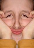 Lustiges Gesicht stockbild