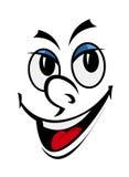 Lustiges Gesicht der Karikatur lizenzfreie abbildung