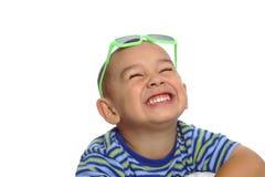 Lustiges Gesicht mit Farbtönen Stockbild
