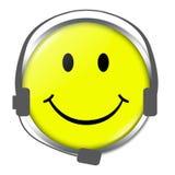 Lustiges Gesicht mit Kopfhörer Lizenzfreie Abbildung