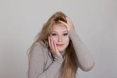 Entsetzte und überraschte Geschäftsfrau Lizenzfreies Stockfoto