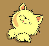Lustiges Kätzchen Stockfotografie