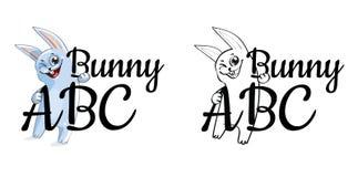 Lustiges Karikaturhäschen oder -kaninchen Stockfotos