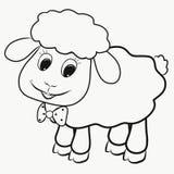 Lustiges kleines flaumiges Lamm, färbend stockfotografie