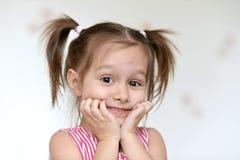 Lustiges kleines Mädchen Stockbilder
