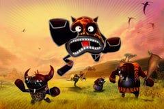 Lustiges kleines Monster Lizenzfreies Stockfoto