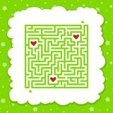 Lustiges Labyrinth Spiel f?r Kinder Puzzlespiel f?r Kinder ?berlagert, einfach zu bearbeiten Labyrinthvexierfrage M?dchenlesezeit vektor abbildung