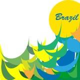 Lustiges Logo Brasilien, Karte, Geschäft Stockfoto