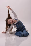 Lustiges Mädchen Stockfotografie