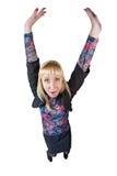 Lustiges Mädchen in der Klage Lizenzfreie Stockbilder