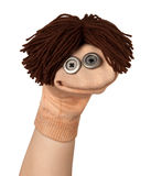 Lustiges Marionettenlächeln Stockfotos