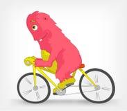 Lustiges Monster. Radfahrer. Lizenzfreie Stockfotos