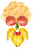 Lustiges Nahrungsmittelgesicht lizenzfreie abbildung