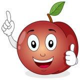 Lustiges Pfirsich-Zeichentrickfilm-Figur-Lächeln Lizenzfreies Stockbild