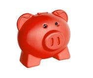 Lustiges rotes Schwein Piggy Stockfoto