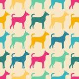 Lustiges tierisches nahtloses Vektormuster des Hundes Stockbild
