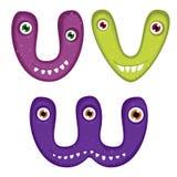 Lustiges Toothy Monster-Alphabet Lizenzfreie Stockfotos