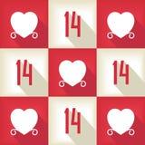 Lustiges Valentine Day-Pop-Arten-Muster Lizenzfreie Stockbilder