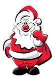 Lustiges Vater-Weihnachten Stockfoto