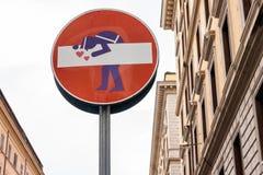 Lustiges Verkehrsschild Lizenzfreie Stockfotos