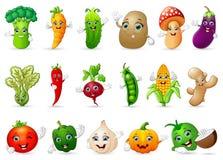Lustiges verschiedenes Karikatur-Gemüse vektor abbildung