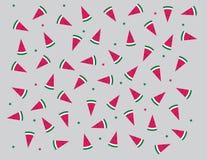 Lustiges Wassermelonenmuster stock abbildung