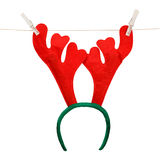 Lustiges Weihnachtsgeweih eines Rotwilds Lizenzfreies Stockbild