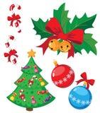 Lustiges Weihnachtsset Stockfotos