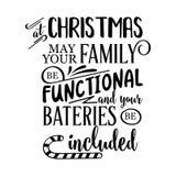 Lustiges Weihnachtszitat stock abbildung