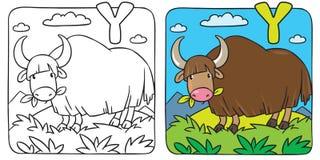 Lustiges Wildyakmalbuch Alphabet Y Stockfotos