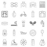 Lustiness icons set, outline style. Lustiness icons set. Outline set of 25 lustiness vector icons for web isolated on white background Stock Photos