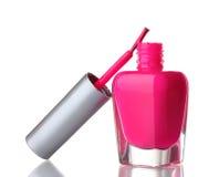 Lustrador de prego cor-de-rosa Fotografia de Stock Royalty Free