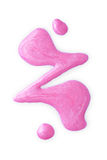 Lustrador de prego cor-de-rosa derramado Fotos de Stock Royalty Free