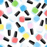 Lustrador de prego Ilustração colorida do vetor Vidro colorido BO Imagem de Stock Royalty Free