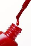 Lustrador de prego vermelho Imagem de Stock Royalty Free
