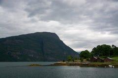 Lustrafjorden, Sogn og Fjordane, Norway Royalty Free Stock Images