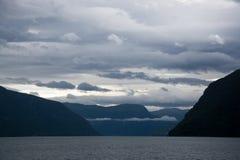 Lustrafjorden, Sogn og Fjordane, Norway Stock Image