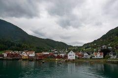 Solvorn at the Lustrafjorden, Sogn og Fjordane, Norway Royalty Free Stock Photography