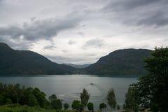 Lustrafjorden, Sogn og Fjordane, Norway Stock Photo