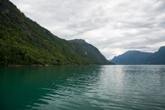 Lustrafjorden, Sogn og Fjordane, Norway. The Lustrafjorden or Lusterfjorden is located in the norwegian province Sogn og Fjordane Stock Photography