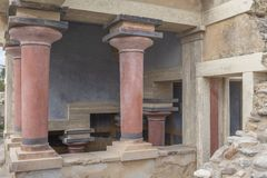 North lustral basin of the palace of Knossos stock photography