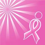 Lustration van Ilvector van het roze Lint van de Steun   Stock Afbeeldingen