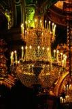 Lustre à l'intérieur de cathédrale de Peter et de Paul à St Petersburg, Russie Image libre de droits