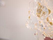 Lustre éclatant de verre cristal Photographie stock