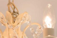 Lustre éclatant de verre cristal Images libres de droits