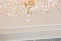 Lustre éclatant de verre cristal Photo stock
