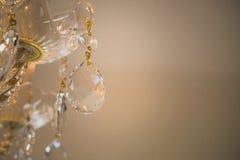 Lustre éclatant de verre cristal Images stock